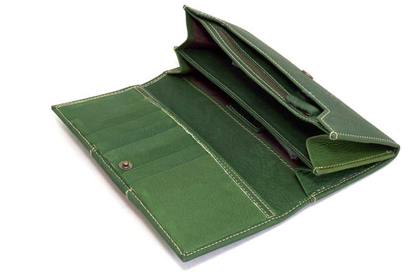 Green Fair Trade Leather Wallet
