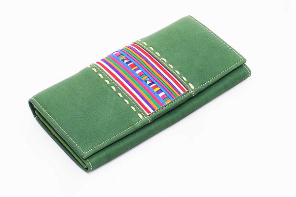Leather Wallet Lisu Appliqué