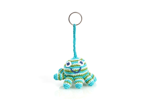 Pebble Blue Octopus Keyring Chain