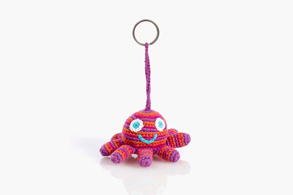 Pebble Pink Octopus Keyring Chain