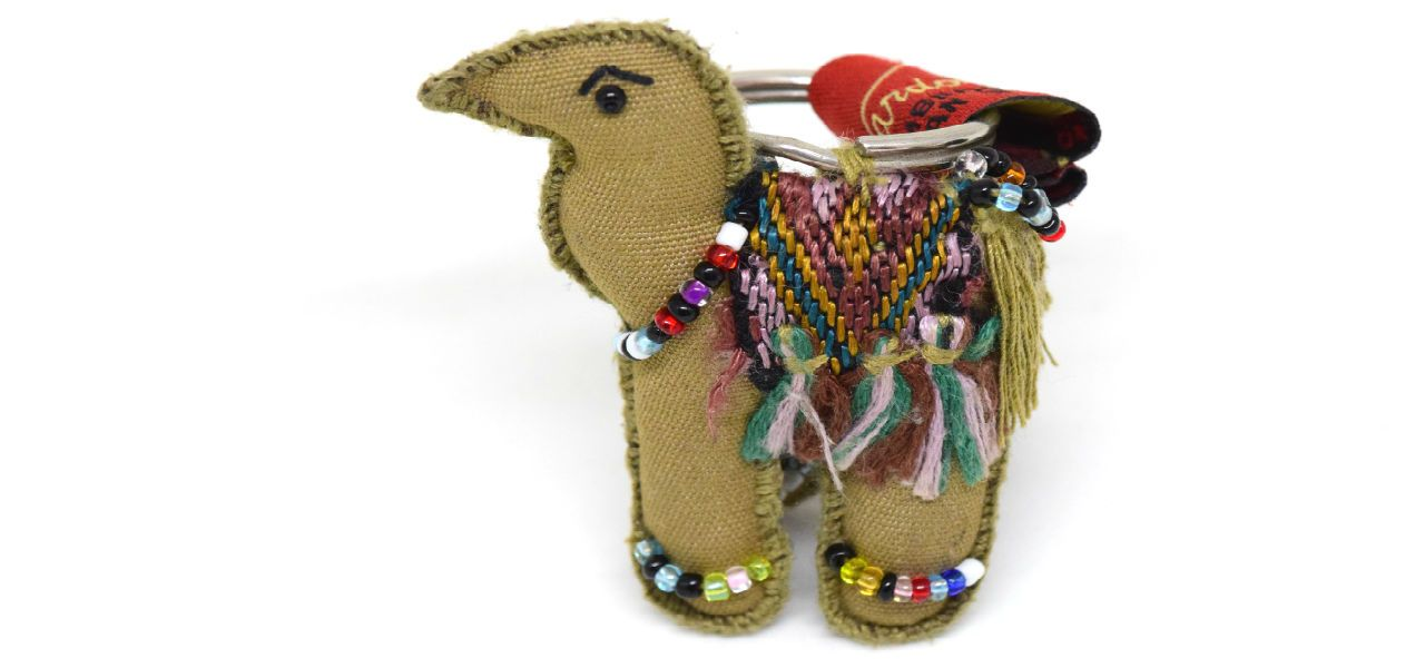 Fair trade camel key ring