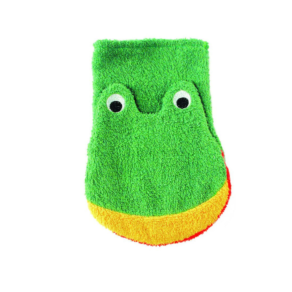 Washcloth--Frog Child Size (organic cotton)