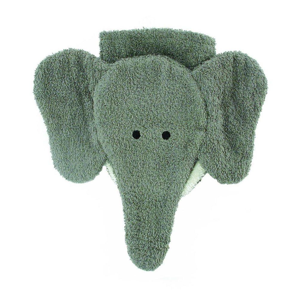 Elephant Washcloth Puppet (organic cotton)