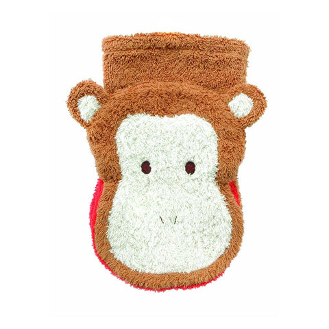 Wash Mitt Puppets - Monkey (organic cotton)
