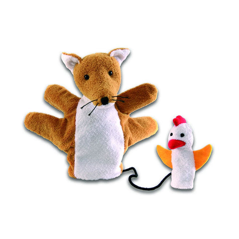 Fox with Chicken Hand Puppet