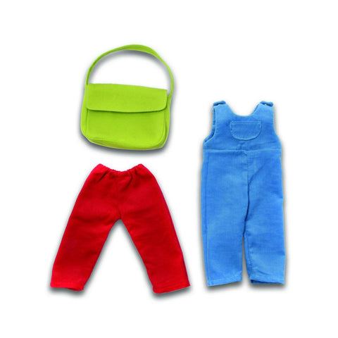 Pants, Overalls and Purse Set