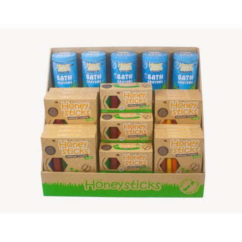 Honeysticks Beeswax Crayon Retail Display