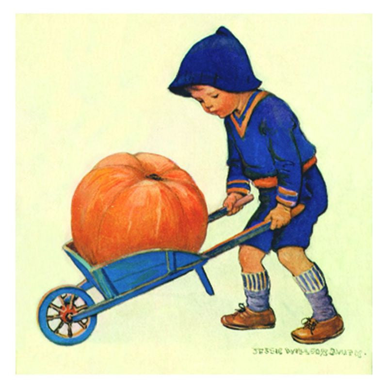 Jessie Willcox Smith Greeting Cards (Set of 6): Pumpkin