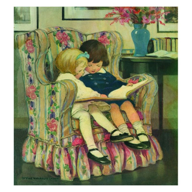 Jessie Willcox Smith Greeting Cards (Set of 6):Reading Book in Chair