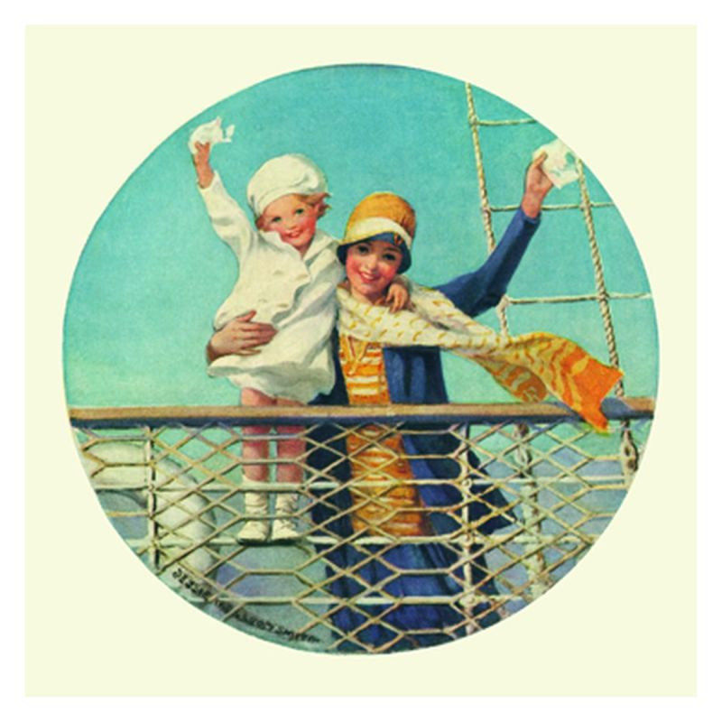 Jessie Willcox Smith Greeting Cards (Set of 6): Waving from Ship