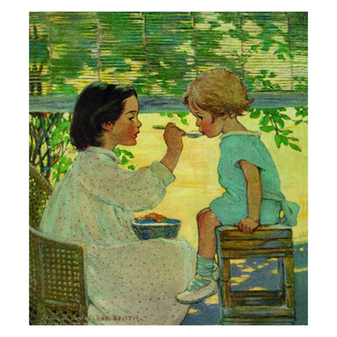 Jessie Willcox Smith Greeting Cards (Set of 6): Girl Feeding Child