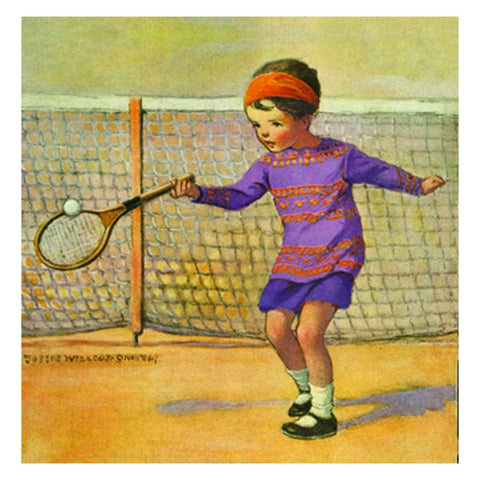 Jessie Willcox Smith Greeting Cards (Set of 6): Girl Playing Tennis