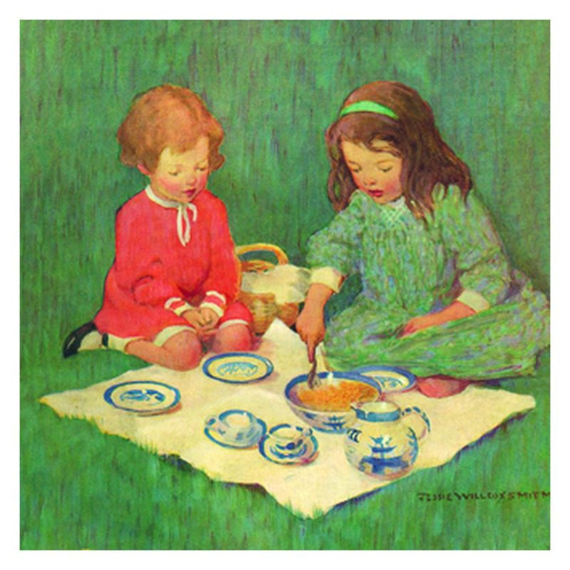 Jessie Willcox Smith Greeting Cards (Set of 6): Tea for Two