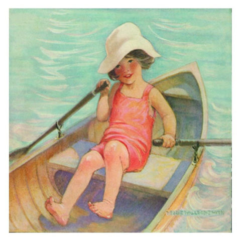 Jessie Willcox Smith Greeting Cards (Set of 6): Girl in Rowboat