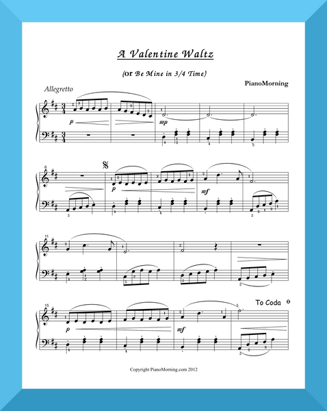 A Valentine Waltz (or Be Mine in 3/4 Time)