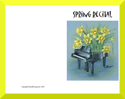 Spring Recital Program blanks 1
