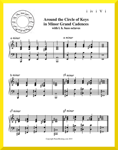 Around the Circle of Keys in minor Grand Cadences w l. h. bass octaves