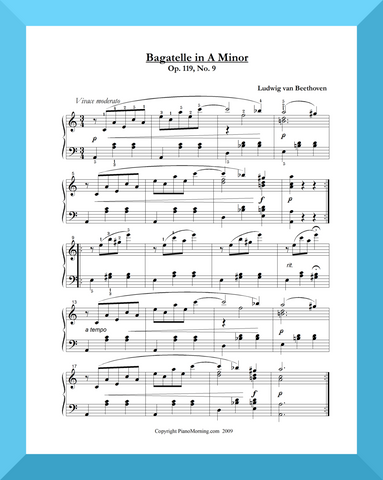 Bagatelle in A Minor     Piano Solo or Two-Piano Duet