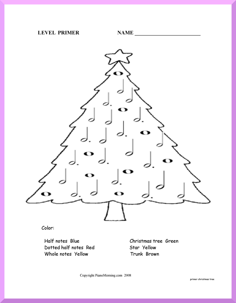 Theory-Primer     Christmas Tree