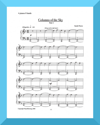 Columns of the Sky (4 Pianos, 8 hands)