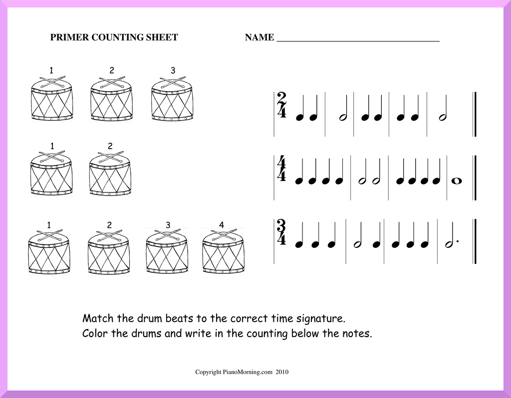 Theory-Primer     Counting Worksheet