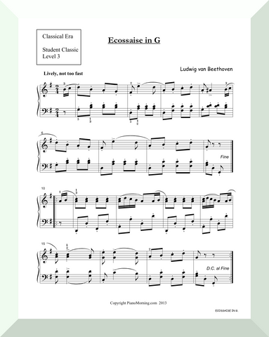 "Student Classic Level 3     ""Ecossaise in G""   ( Beethoven )"