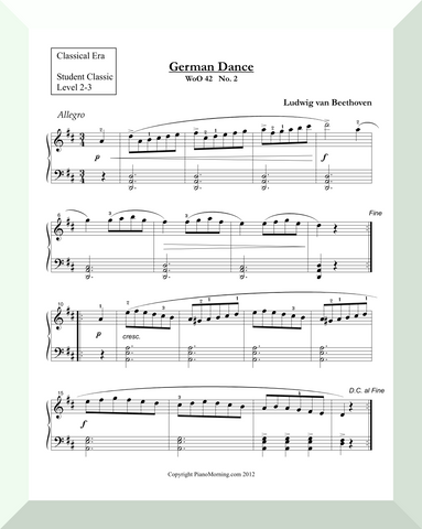 "Student Classic Level 2-3     ""German Dance""   ( Beethoven )"