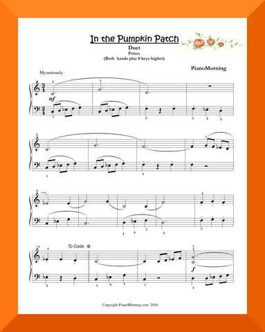 In the Pumpkin Patch (Piano Duet)
