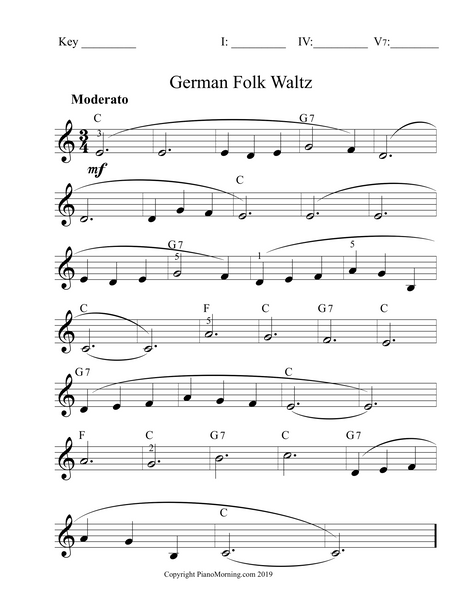 Waltz Pattern Lead Sheets