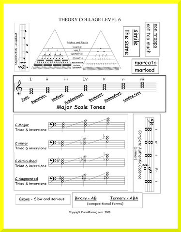 - Level 6  Theory      Collage       Help Sheets
