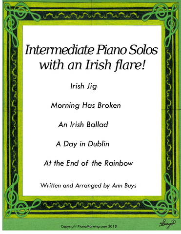 Intermediate Piano Solos with an Irish flare!