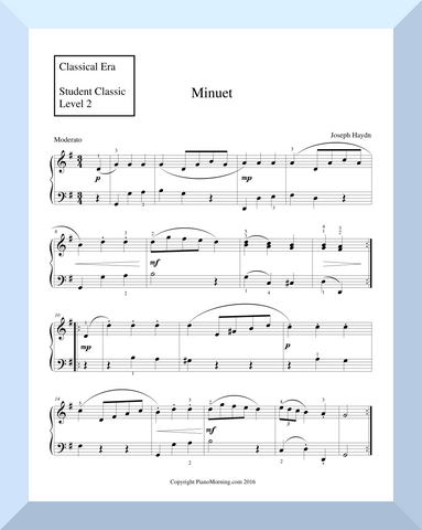 "Student Classic Level 2     "" Minuet ""   ( Haydn )"