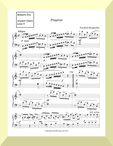"Student Classic Level 4      ""Progress""  ( Burgmuller)"