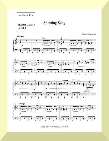 "Student Classic Level 4       ""Spinning Song""  ( Ellmenreicht )"