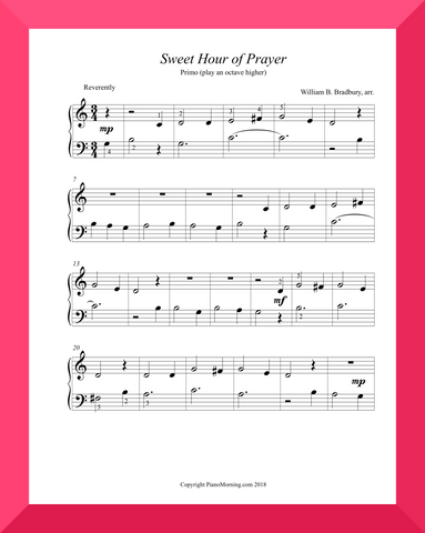 Sweet Hour of Prayer (w teacher's part)
