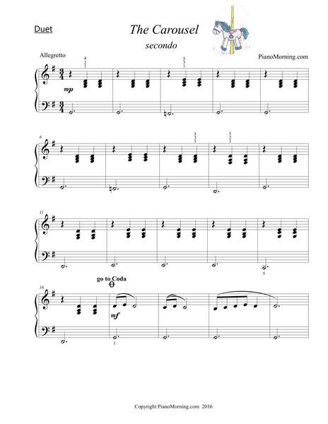 The Carousel (Piano Duet)