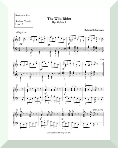"Student Classic Level 3     "" The Wild Rider""   ( Schumann )"