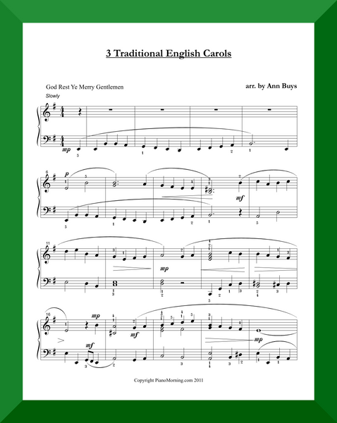 Three Traditional English Carols
