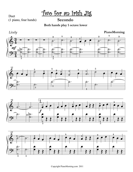 Two for an Irish Jig (Piano Duet)