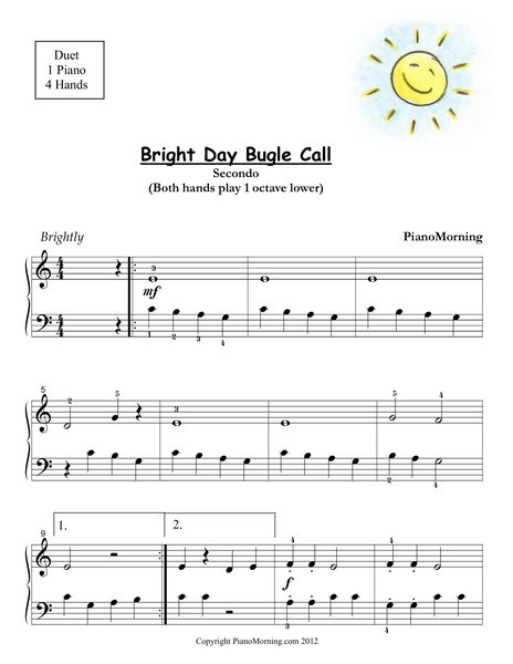 Bright Day Bugle Call   Piano Duet