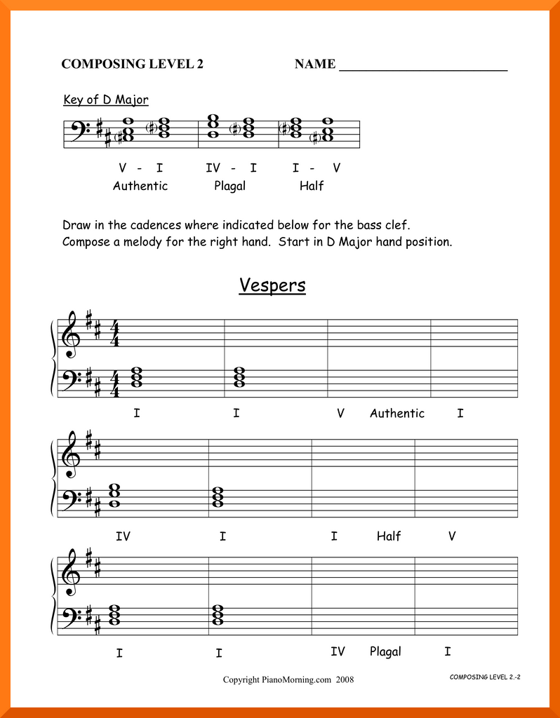 "Level 2 Theory     Composing     ""Vespers"""