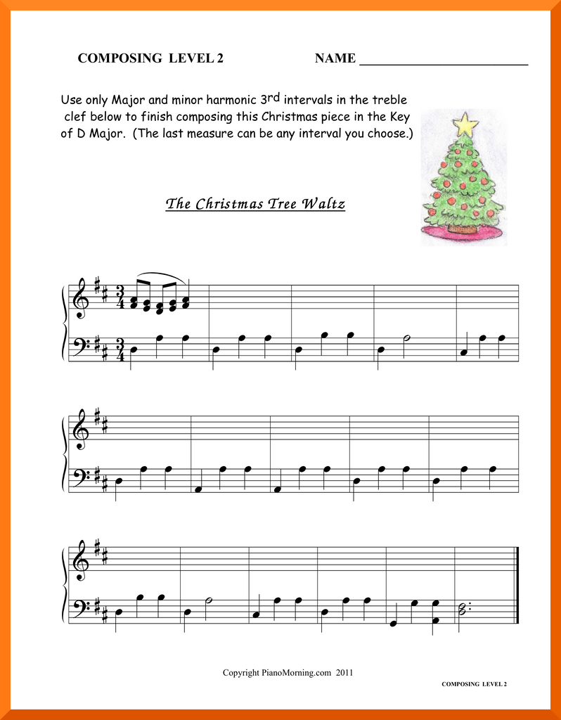 "Level 2 Theory     Composing    ""The Christmas Tree Waltz"""