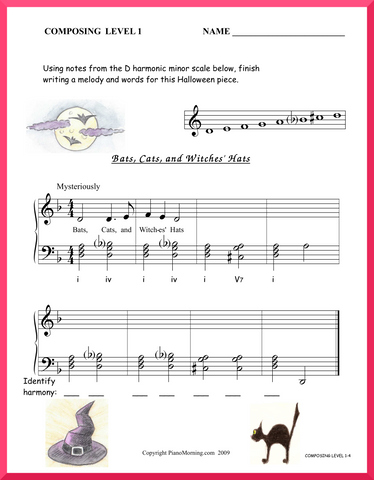 Level 1 Theory     Composing     Bats, Cats, and Witches' Hats