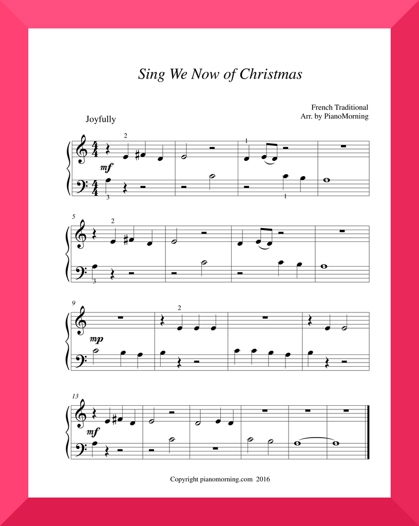 Sing We Now of Christmas   (w Teacher's Part)