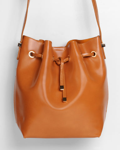 Bucket-bag in braun von ImiLoa