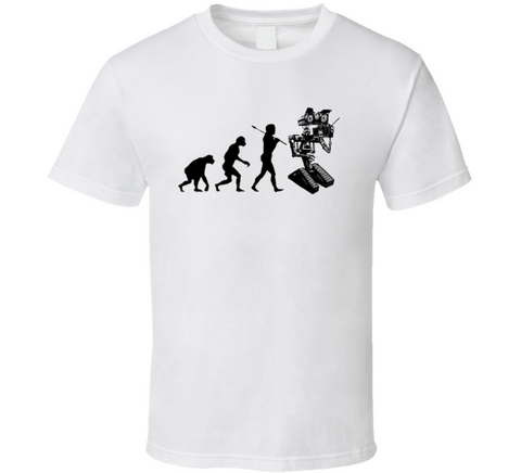 Robot Evolution Funny Retro 80s T-Shirt