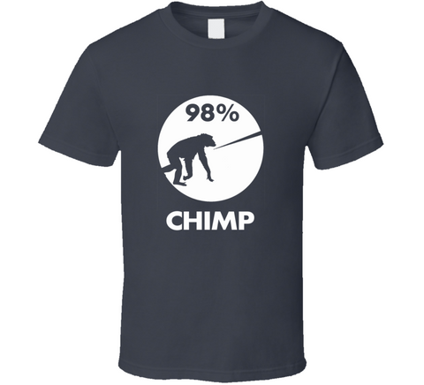 98 Percent Chimp Darwin Funny Human Evolution T Shirt