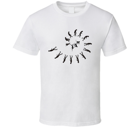 Evolution Spiral Golden Ratio Geek White T Shirt