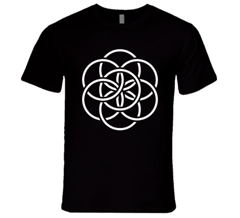 Flower of Life Sacred Geometry Dodecahedron  T Shirt