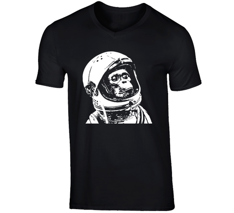 Space Monkey Astro Chimp Black T Shirt